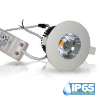 Logo 6w led downlight cob rond ip65 blanc froid vt1154