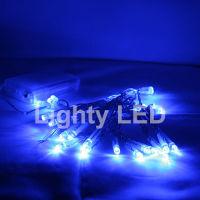Logo Lot de 10 guirlandes 30 led bleu sur piles ar2044